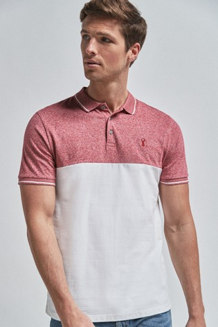 Pink Colourblock Poloshirt