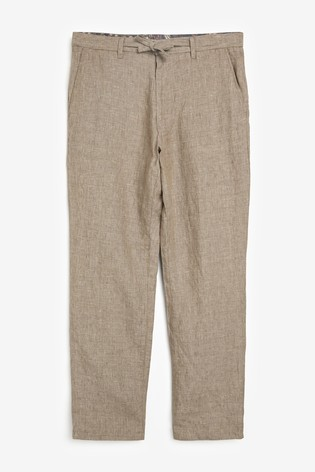 Taupe Linen Trousers