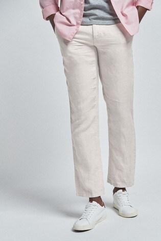 Chalk Linen Trousers