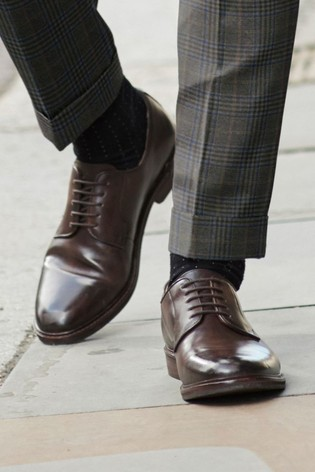 Brown Modern Heritage Leather Derby Shoes