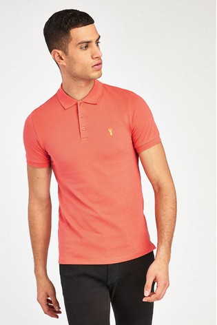 Orange Regular Fit Pique Poloshirt