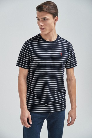 Navy Stag Stripe Regular Fit T-Shirt