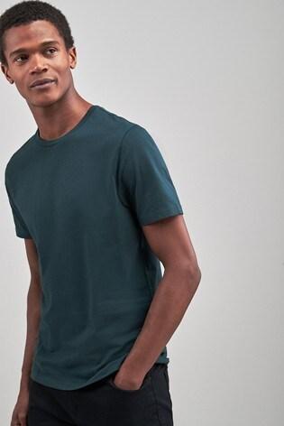 Dark Green Regular Fit Crew Neck T-Shirt