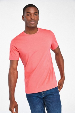 Bright Pink Regular Fit Crew Neck T-Shirt