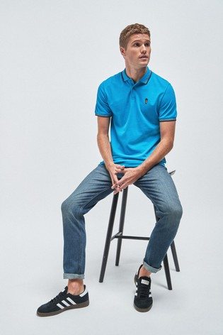 Blue Tipped Regular Fit Poloshirt