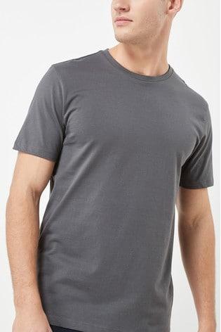 Charcoal Regular Fit Crew Neck T-Shirt