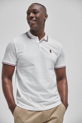 White Tipped Regular Fit Poloshirt