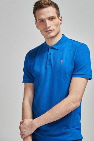 Cobalt Regular Fit Pique Poloshirt