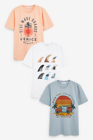 Multi Surf Graphic T-Shirts Three Pack