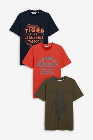 Multi Graphic T-Shirts Three Pack