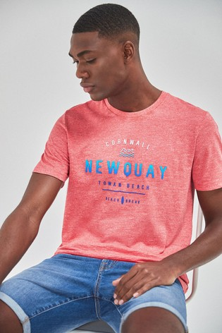 Coral Newquay Graphic Regular Fit T-Shirt