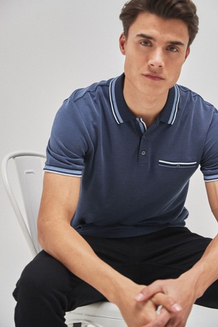 Blue Soft Touch Smart Regular Fit Polo