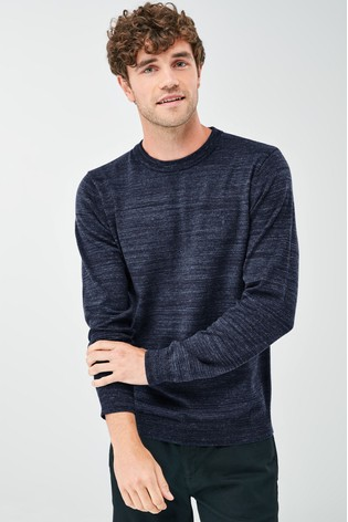 Navy Cotton Rich Stag Marl Jumper
