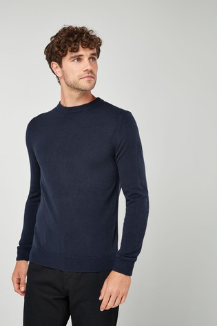 Navy Crew Neck Soft Touch Jumper