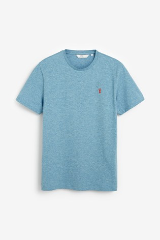 Light Blue Marl Regular Fit Stag T-Shirt