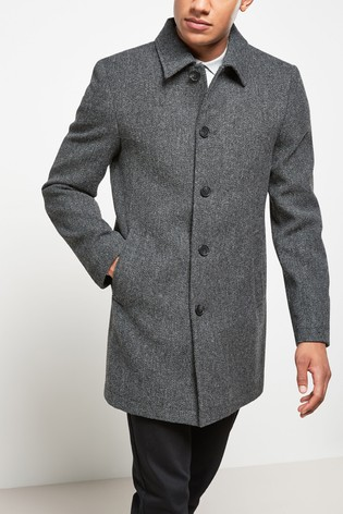 Charcoal Netherfield Tweed Signature Car Coat