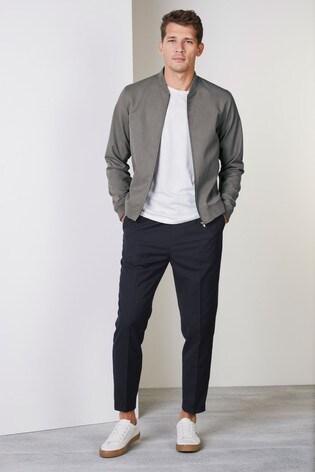 Grey Bomber Jacket