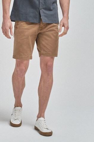 Tan Premium Laundered Chino Shorts