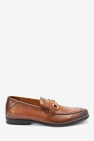 Tan Snaffle Party Loafers