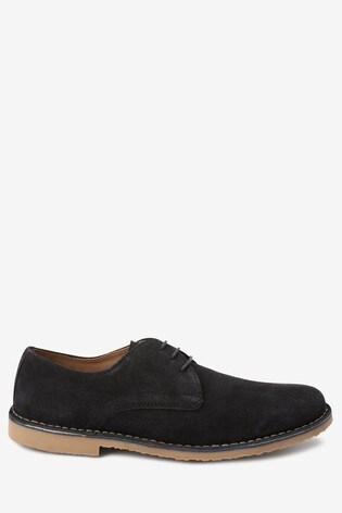 Navy Suede Suede Desert Shoes