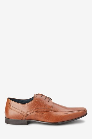 Tan Leather Panel Lace-Up Shoes