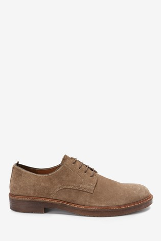 Stone Suede Stained Sole Suede Derby Shoes