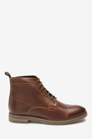 Tan Leather Toe Cap Boots