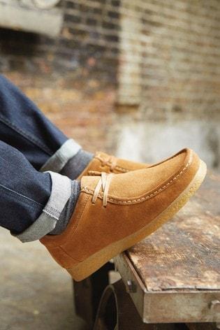 Tan Suede Wallabee Shoes