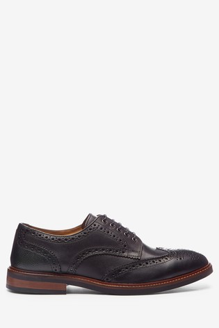 Black Modern Heritage Leather Brogues