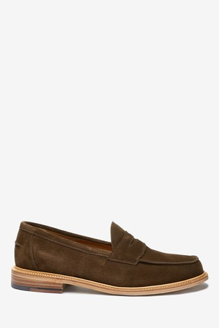 Brown Sanders for Next Suede Penny Loafers