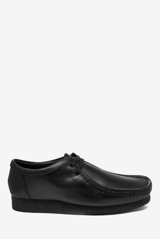 Black Leather Wallabee Shoes