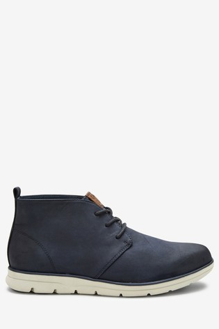 Navy Low Sport Chukka Boots