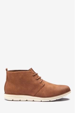Tan Low Sport Chukka Boots