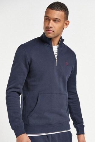 Navy Zip Neck Sweatshirt