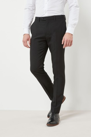 Black Skinny Fit Machine Washable Plain Front Trousers