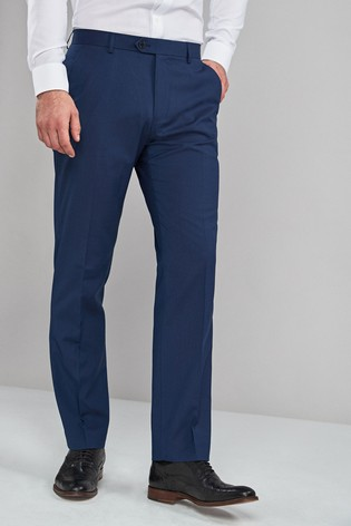 Blue Regular Fit Stretch Formal Trousers
