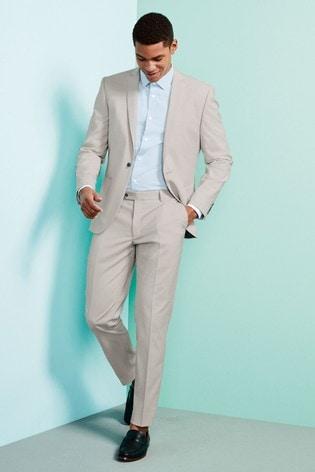Light Grey Jacket Slim Fit Suit