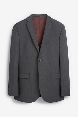 Charcoal Regular Fit Tollegno Signature Suit: Jacket