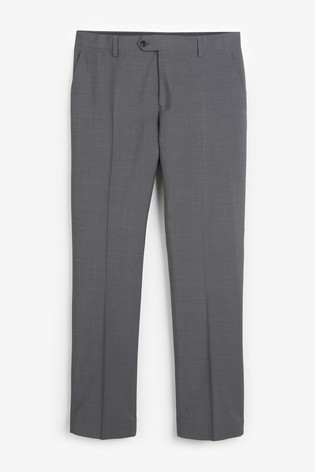 Charcoal Regular Fit Tollegno Signature Suit: Trousers