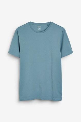 Pale Blue Slim Fit Crew Neck T-Shirt