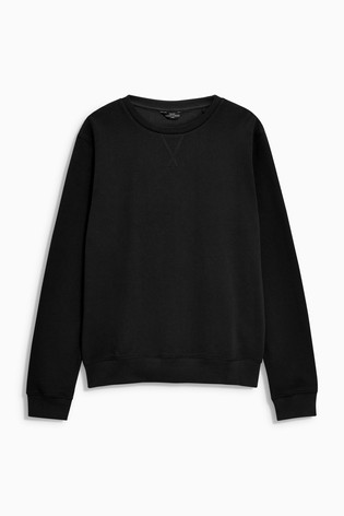 Black Crew Neck Sweater Loungewear