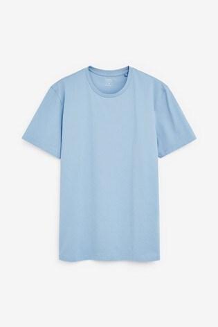 Light Blue Regular Fit Crew Neck T-Shirt