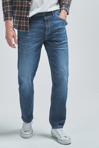 Light Blue Straight Fit Soft Touch Jeans With TENCEL™