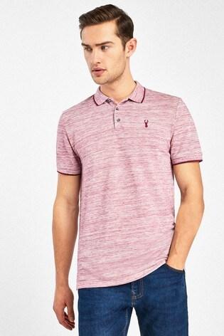 Pink Marl Regular Fit Pique Poloshirt