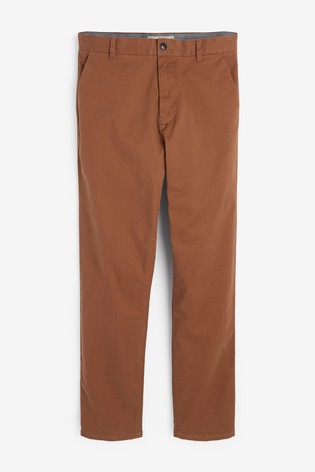 Toffee Straight Fit Stretch Chinos