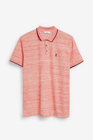 Orange Marl Regular Fit Pique Poloshirt
