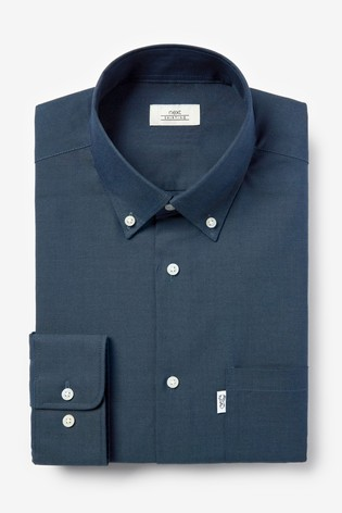 Turquoise Slim Fit Single Cuff Easy Iron Button Down Oxford Shirt