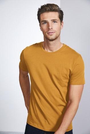 Ochre Slim Fit Crew Neck T-Shirt
