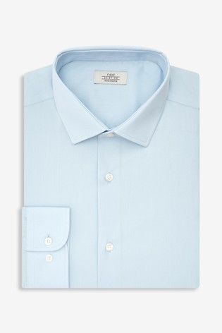 Light Blue Skinny Fit Single Cuff Stretch Easy Care Shirt