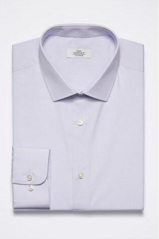 Lilac Regular Fit Single Cuff Cotton Shirt